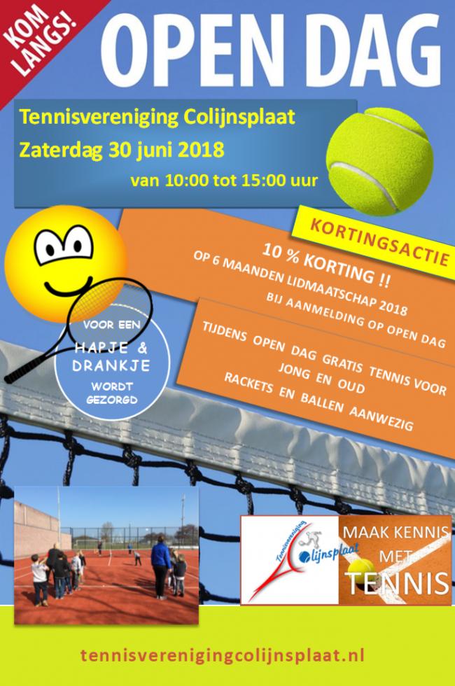 Open Dag zaterdag 30 juni